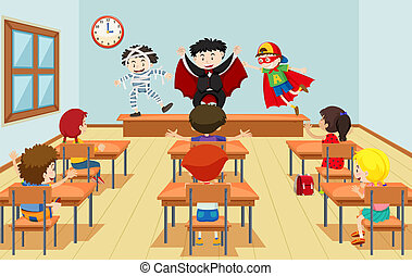 dramat, klasa, dzieci