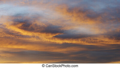 dramatic and colorful clouds
