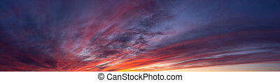 Dramatic and Colorful Cloudscape