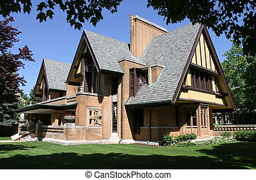 Dramatic architecture on this Frank Lloyd Wright designed...