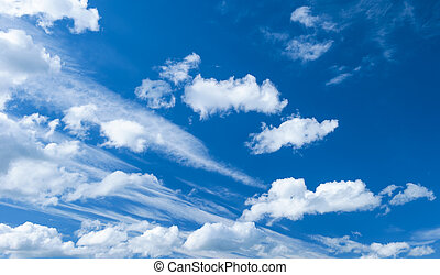 dramatic blue sky with clouds