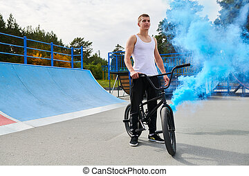 Dramatic BMX Shot