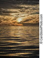 Dramatic California sunset