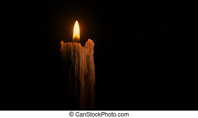 Dramatic Candle In The Dark