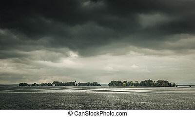 dramatic Chiemsee - An image of the Chiemsee in Bavaria...