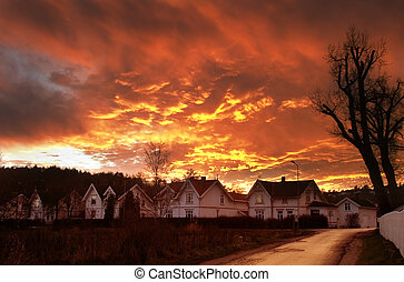 Dramatic Clouds - Dramatic sundown in Fredrikstad Norway.