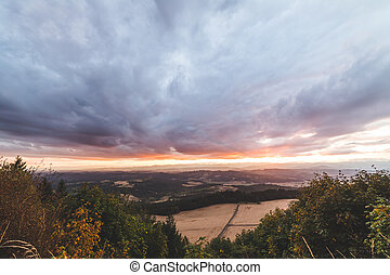 Dramatic clouds over Oregon countryside