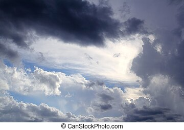 Dramatic cloudscape sky gray stormy clouds background