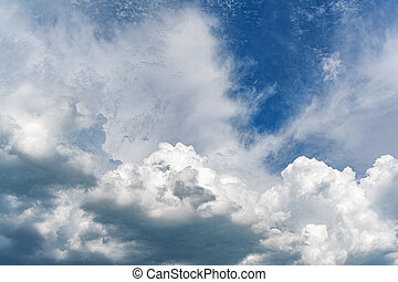 Dramatic cloudy sky as abstract background.