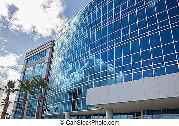 Dramatic Corporate Building Abstract - Dramatic Reflective ...