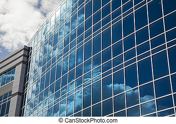 Dramatic Corporate Building Abstract - Dramatic Reflective...