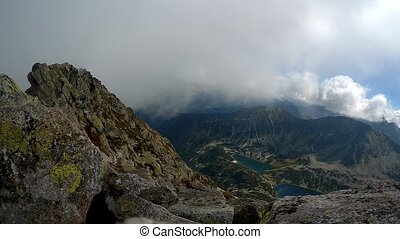 Dramatic fog in the mountains