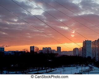 Dramatic Golden Sky Sunset