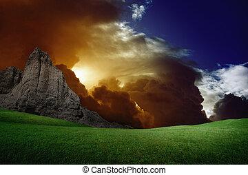 Dramatic landscape
