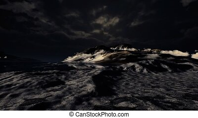 Dramatic landscape in Antarctica with storm coming