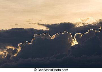 dramatic moody sunset sky