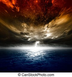 Dramatic nature background - Dramatic apocalyptic background...