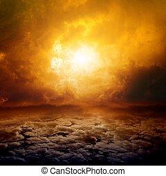Dramatic nature background - Dramatic apocalyptic...