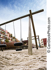 Dramatic Playground - A playing image taken at a dramatic...