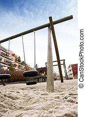Dramatic Playground - A playing image taken at a dramatic...