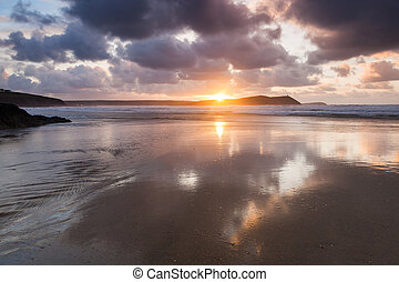 Polzeath Cornwall England