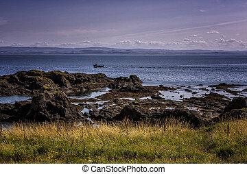 Dramatic rocky coastline