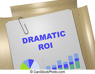 Dramatic ROI business concept