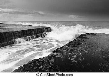 Dramatic seascape at Bali