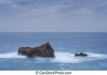 Dramatic seascape. Coasts Vicentina Portugal.