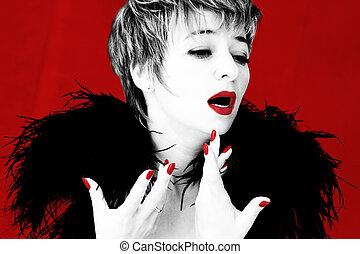 Dramatic singer - Dramatic image of a singer