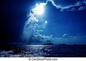 Dramatic Skies - Sun bursting through dramatic skies over...
