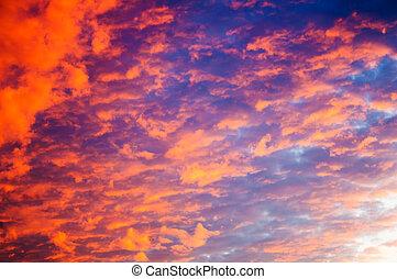 Dramatic sky background on sunrise.