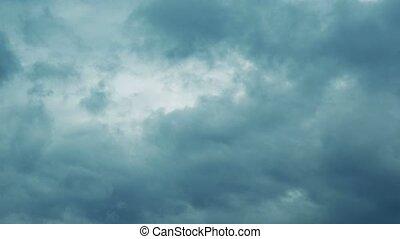 Dramatic sky, dark stormy clouds