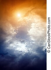 Dramatic sky - Dramatic impressive background - sky with...