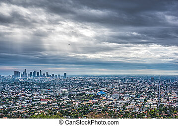 dramatic sky over Los Angeles