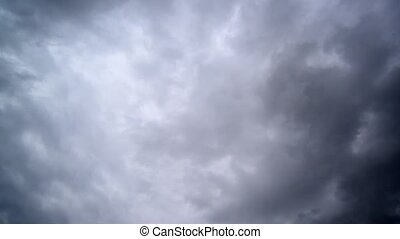 Dramatic Sky with dark storm clouds