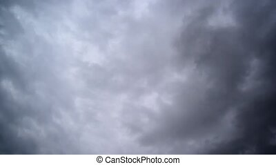 Dramatic Sky with dark stormy cloud