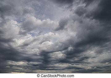 dramatic storm cloud sky
