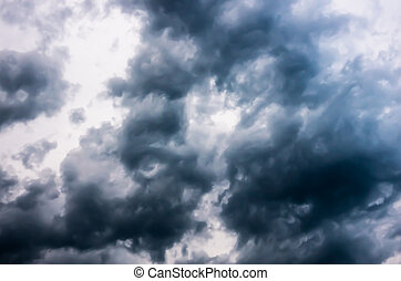 Storm Clouds in the dark sky, natural background