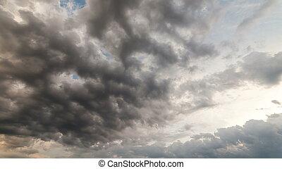 Dramatic storm sky background.
