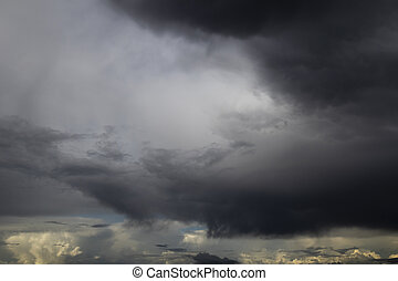 Dramatic stormy sky scape - Dramatic storm cloud sky scape ...