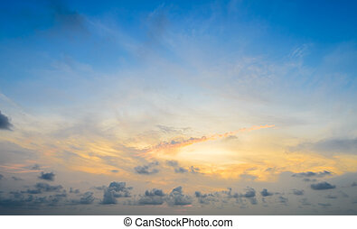 Dramatic sunrise sky background