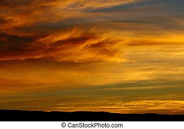 Dramatic Sunrise - Dramatic Autumn sunrise in Colorado...