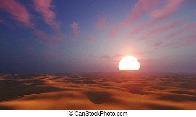 Dramatic sunset in african desert