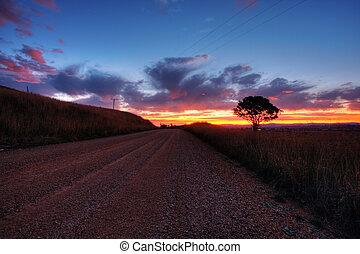 Sunset in Cowra