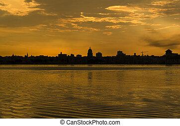 Dramatic sunset in Havana