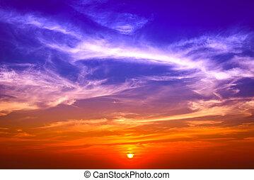 Dramatic sunset sky background.