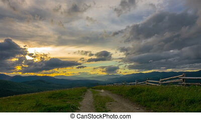 Dramatic Sunset Sky in the Mountains
