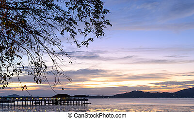 Dramatic sunset sky on Andaman sea