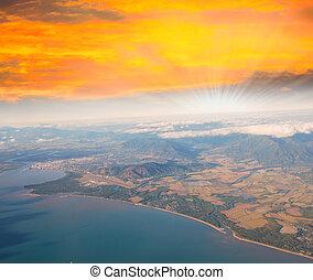 Dramatic sunset sky over Queensland Coast